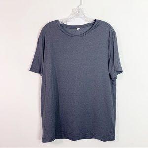 LULULEMON | Men's Micro Stripe Gray Shirt Sz. L